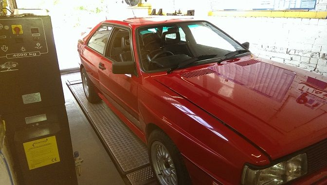 Mot test on a customers classic Audi Quattro